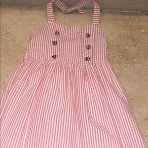 Janie and Jack pinstripe sailor halter dress